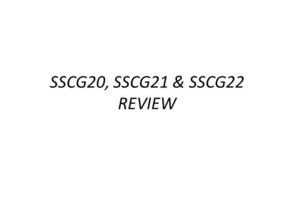 SSCG20, SSCG21 & SSCG22 REVIEW