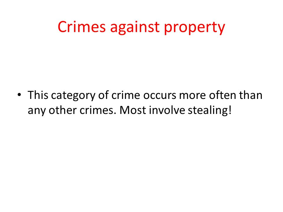Crimes against property