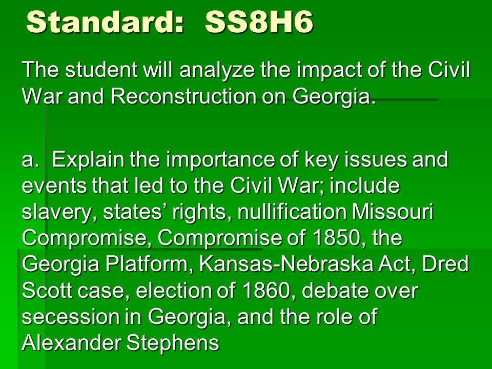 Standard: SS8H6