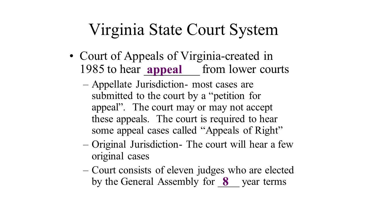 Virginia State Court System
