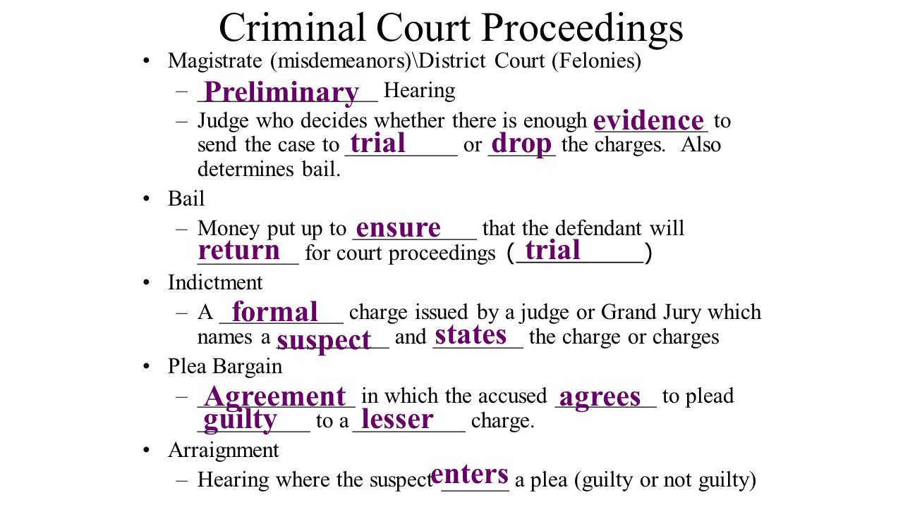 Criminal Court Proceedings
