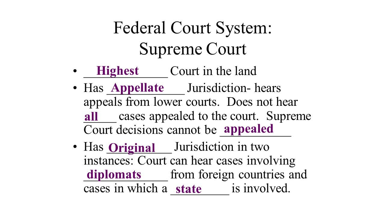 Federal Court System: Supreme Court