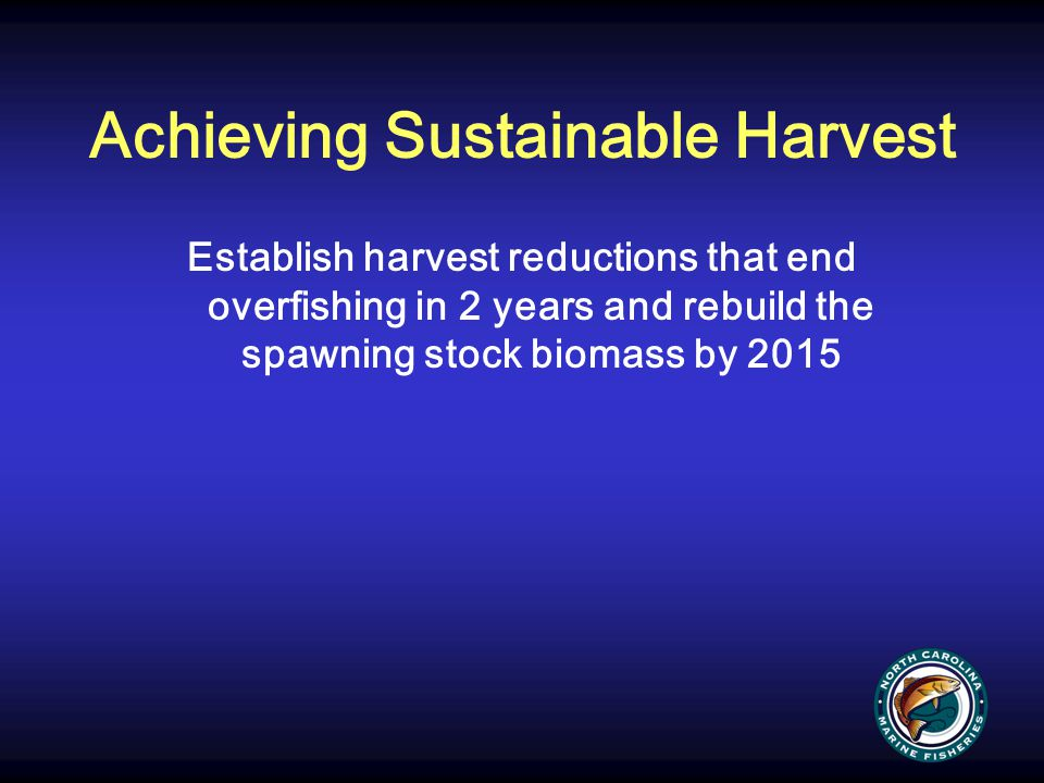 Achieving Sustainable Harvest