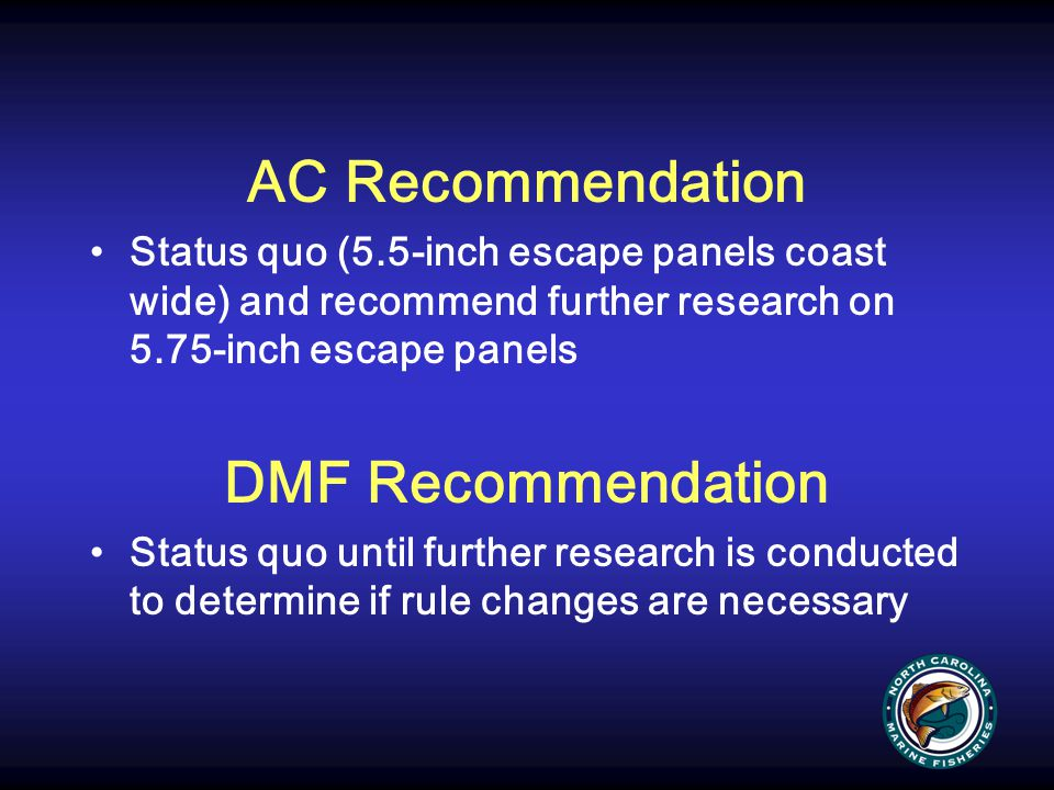 AC Recommendation DMF Recommendation