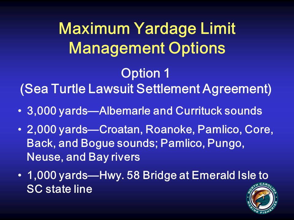 Maximum Yardage Limit Management Options