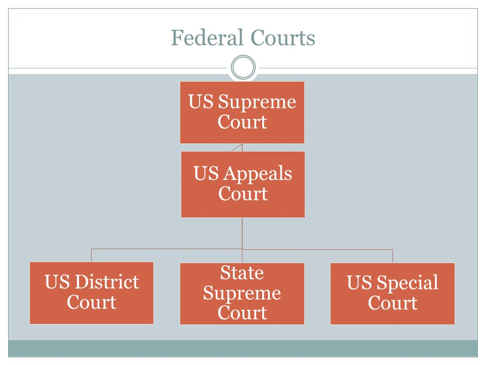 Federal Courts US Supreme Court US Appeals Court State Supreme Court