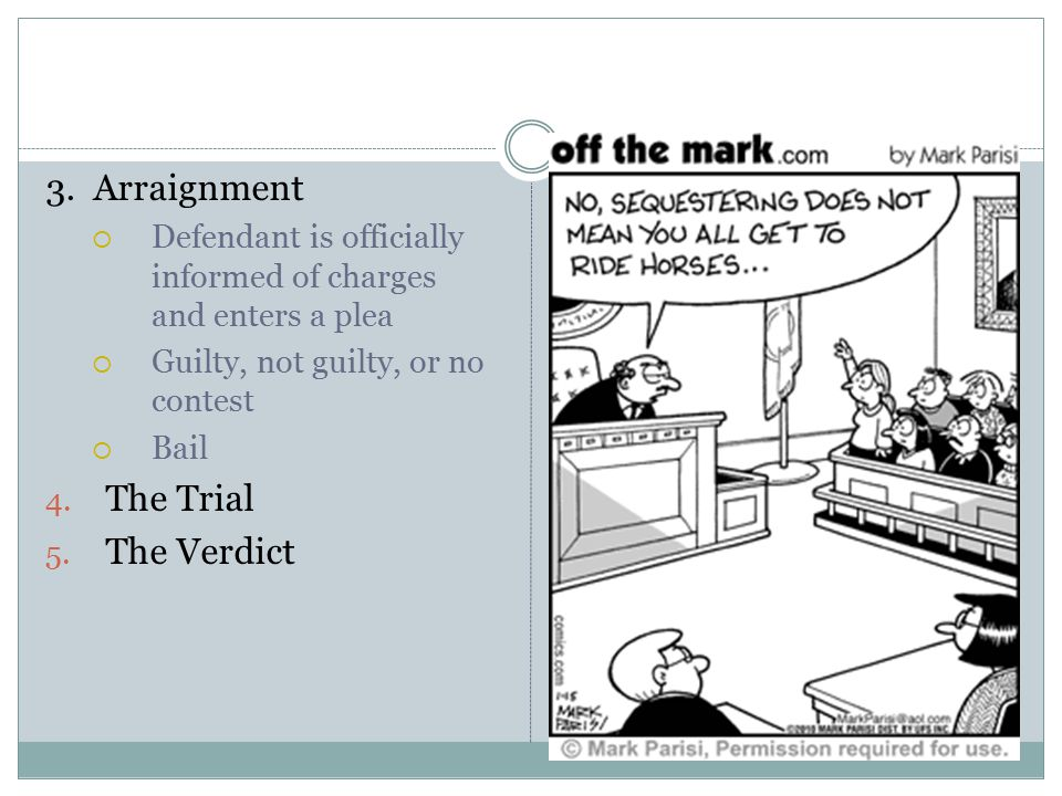 3. Arraignment The Trial The Verdict