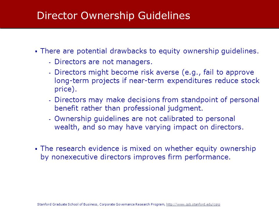 Director Ownership Guidelines
