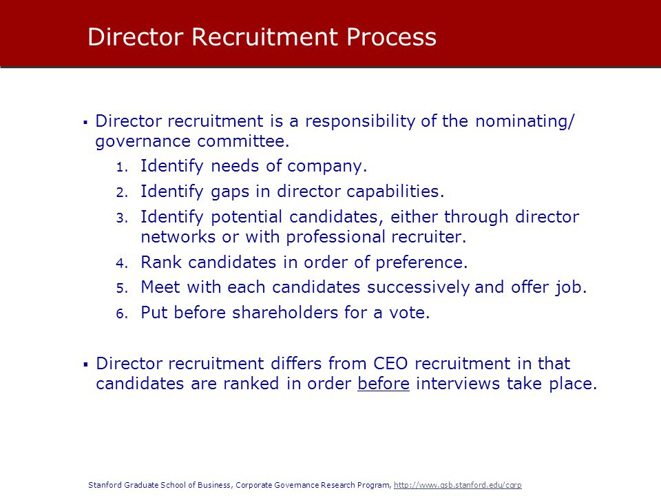 Director Recruitment Process