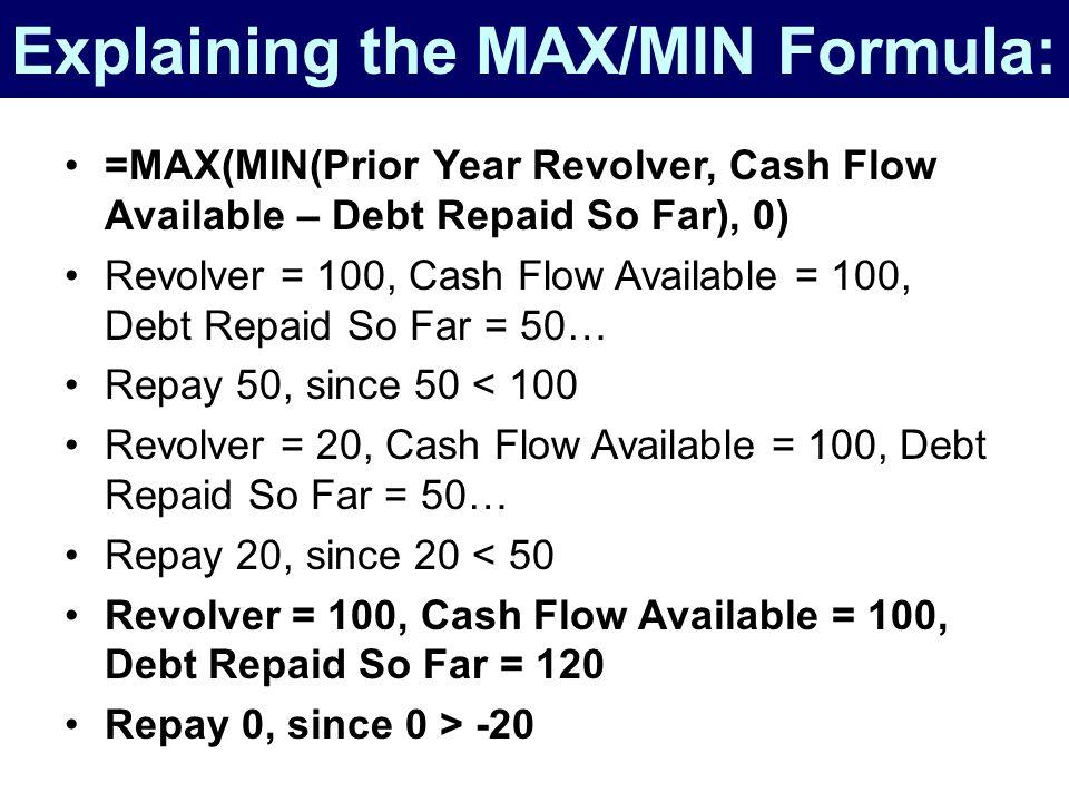 Explaining the MAX/MIN Formula: