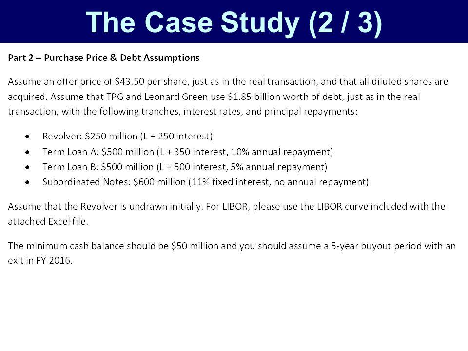 The Case Study (2 / 3)