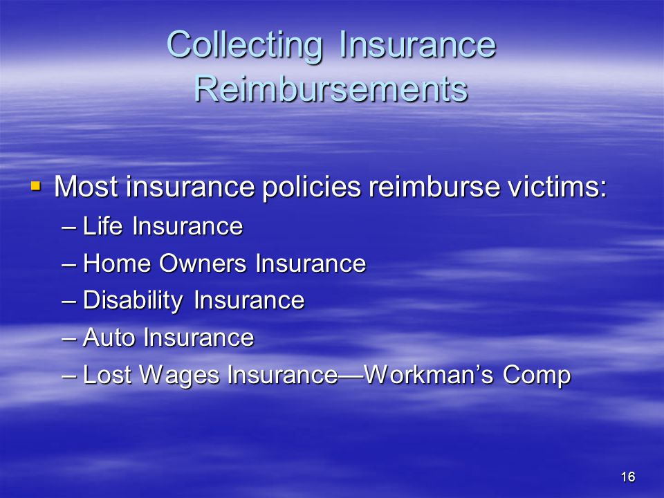 Collecting Insurance Reimbursements