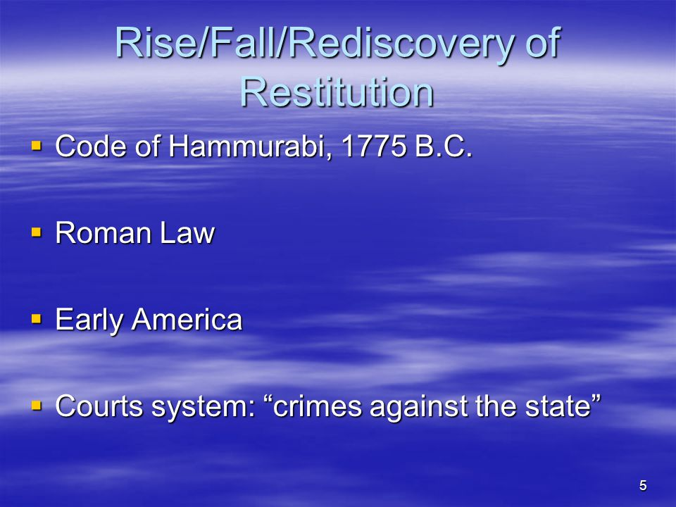 Rise/Fall/Rediscovery of Restitution