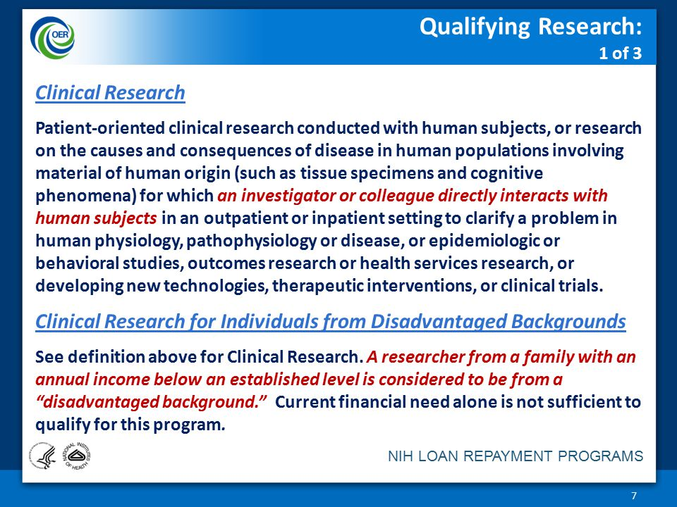 Qualifying Research: 1 of 3