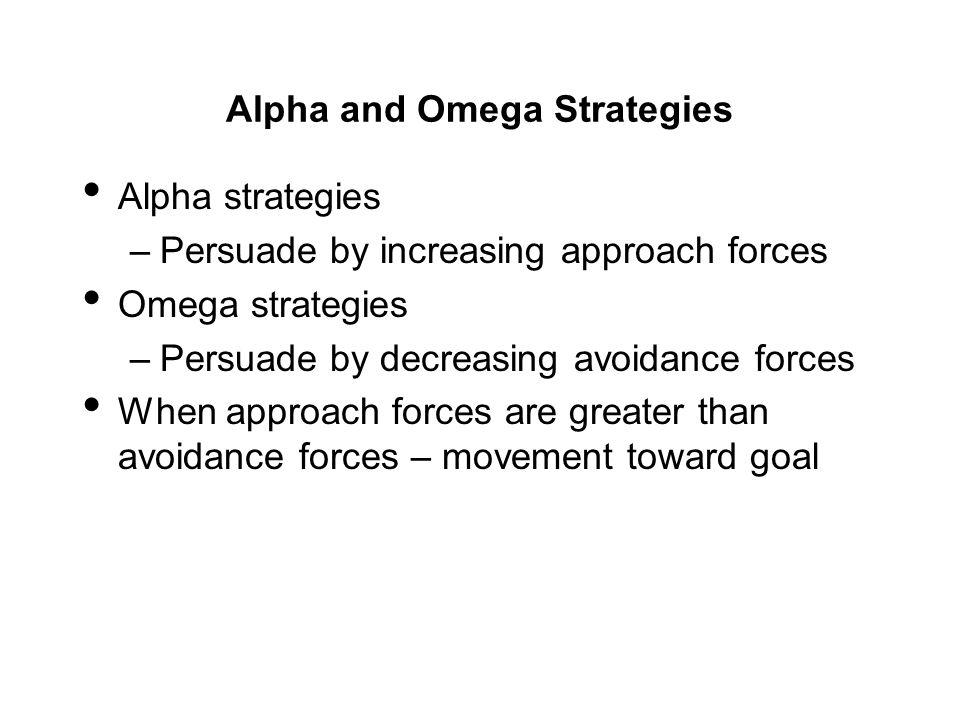 Alpha and Omega Strategies