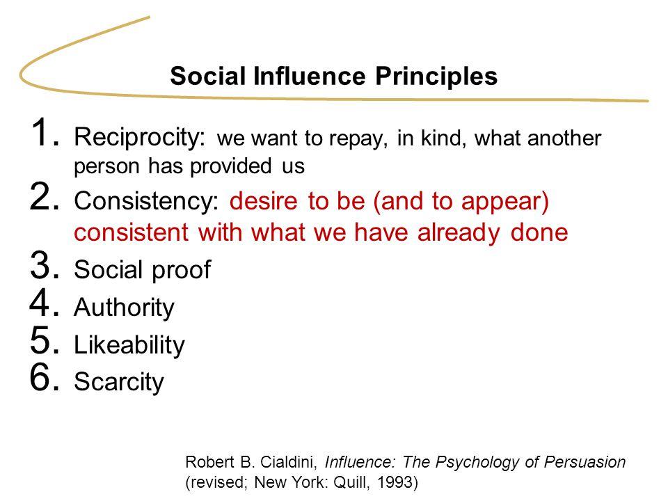 Social Influence Principles