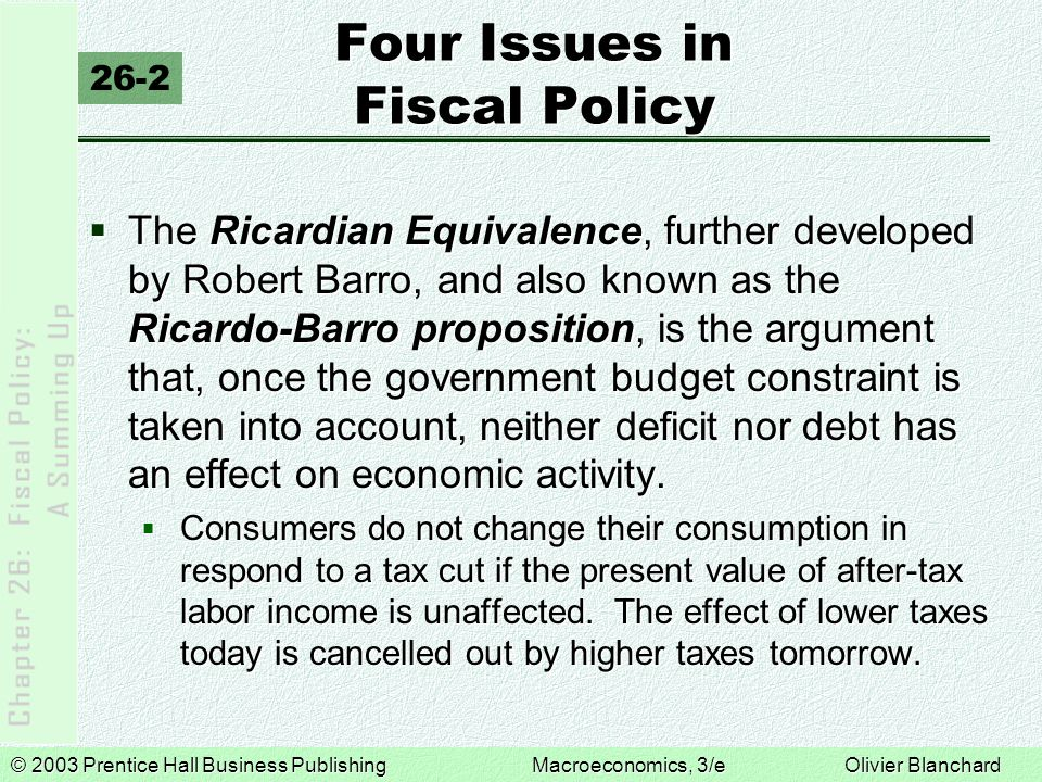 Four Issues in Fiscal Policy