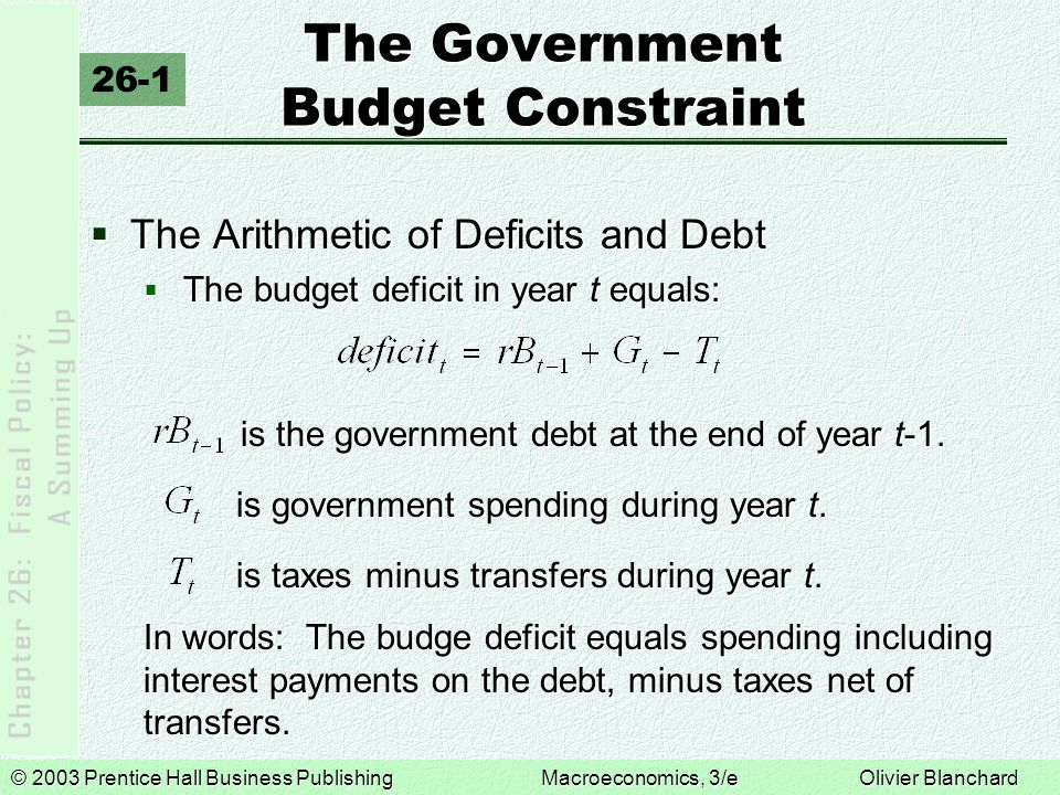 The Government Budget Constraint
