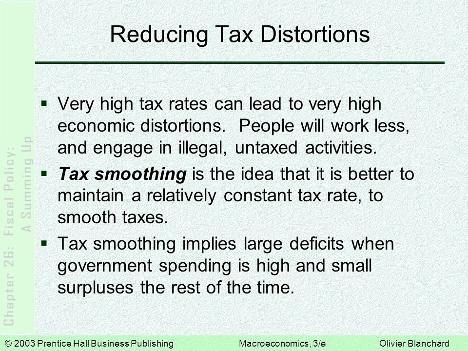 Reducing Tax Distortions