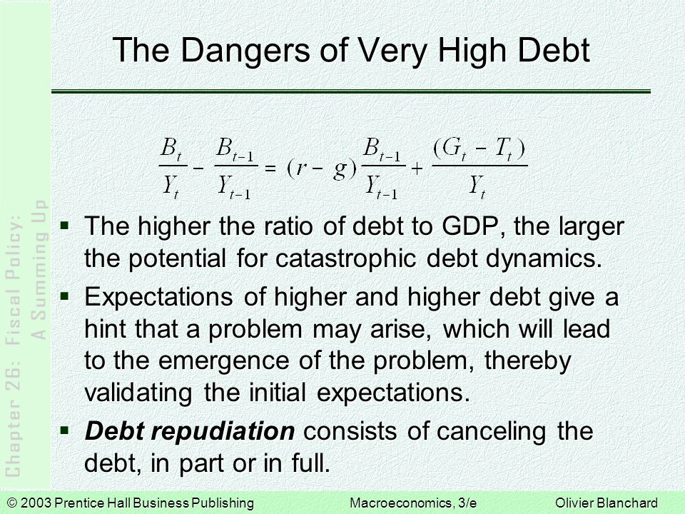The Dangers of Very High Debt