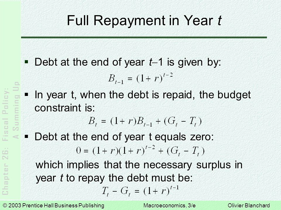 Full Repayment in Year t