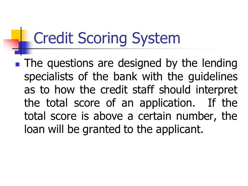 Credit Scoring System
