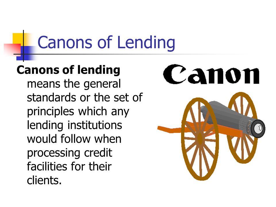 Canons of Lending