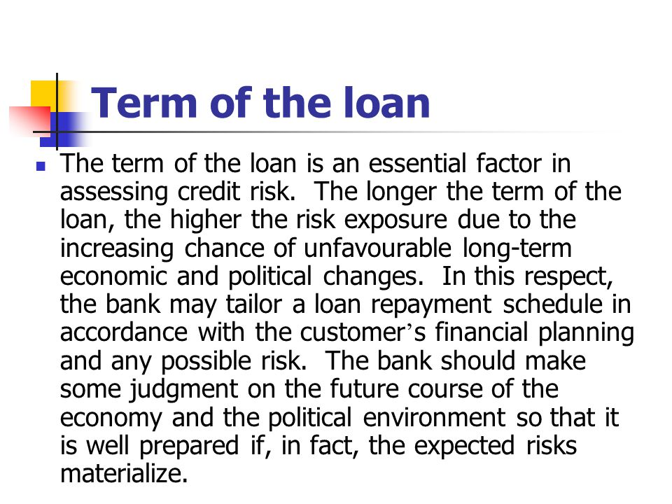 Term of the loan
