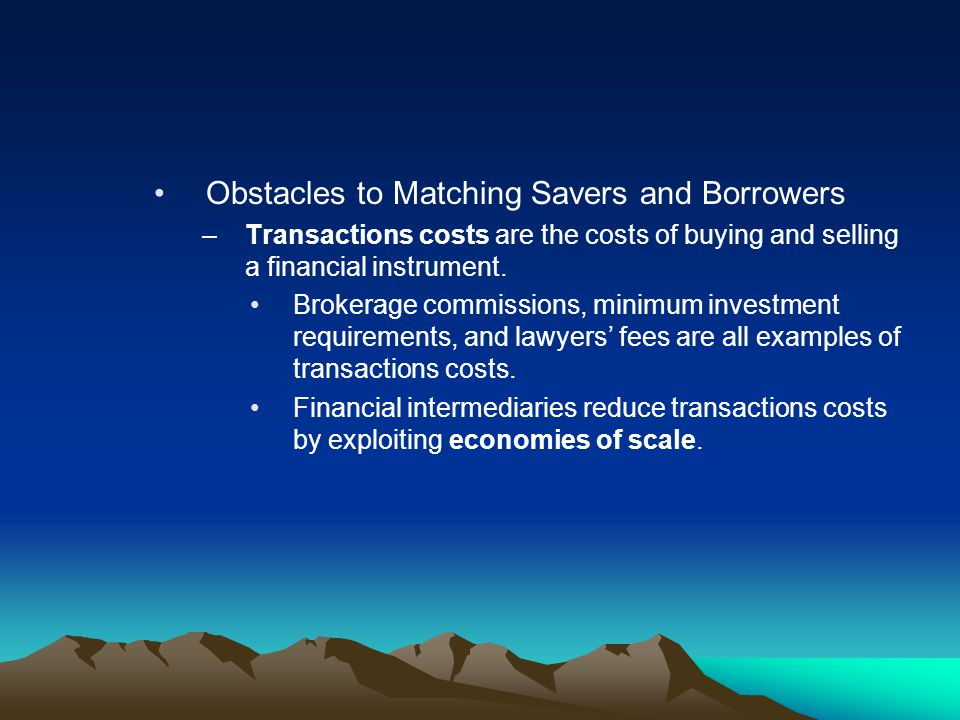 Obstacles to Matching Savers and Borrowers