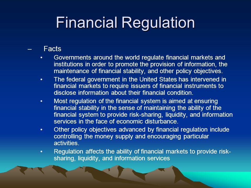 Financial Regulation Facts