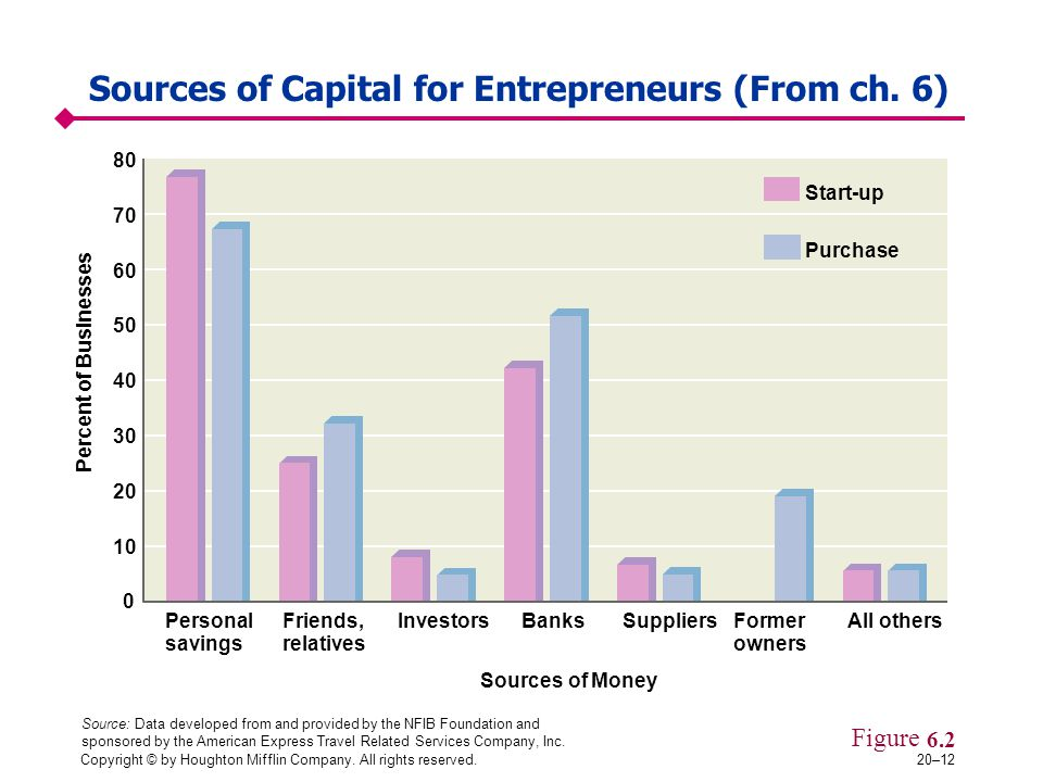 Sources of Capital for Entrepreneurs (From ch. 6)