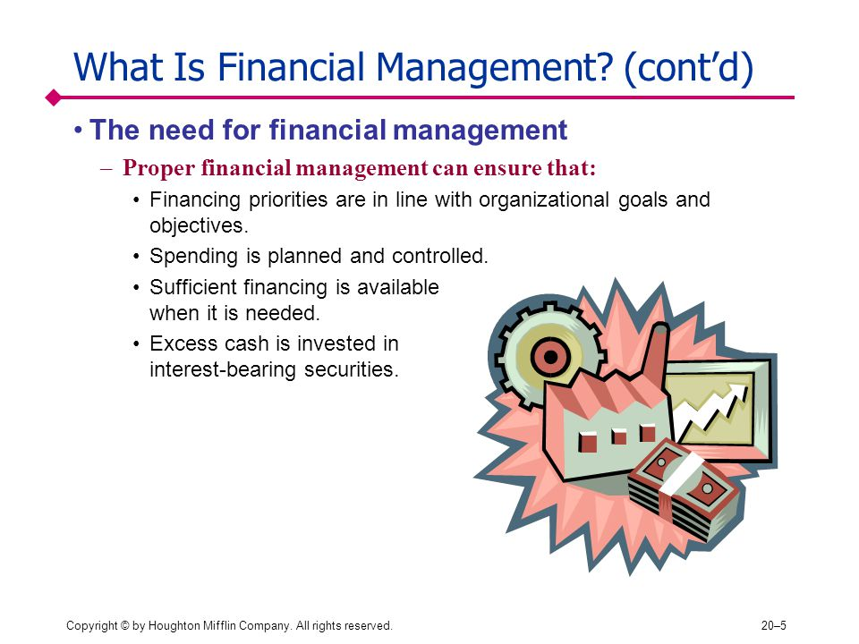 What Is Financial Management (cont'd)