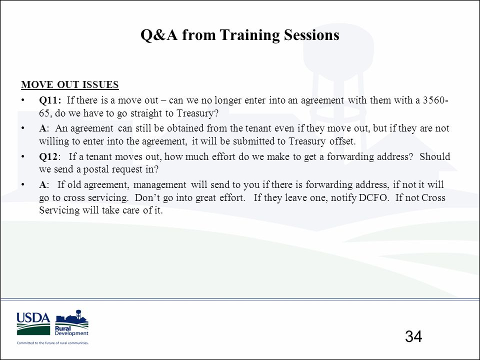 Q&A from Training Sessions