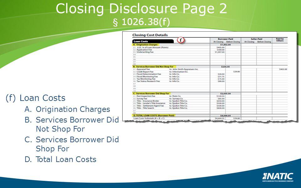 Closing Disclosure Page 2