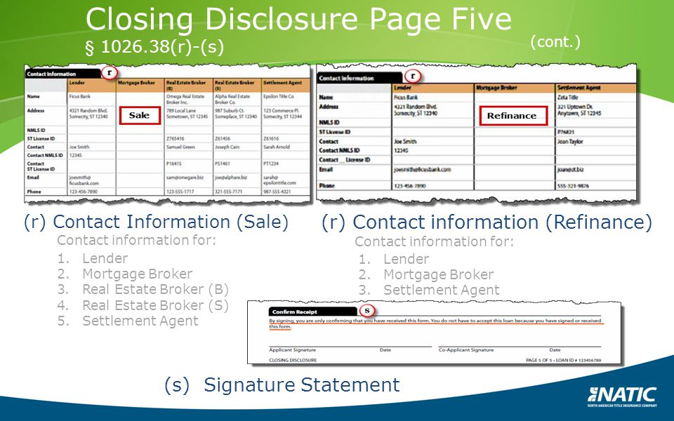 Closing Disclosure Page Five