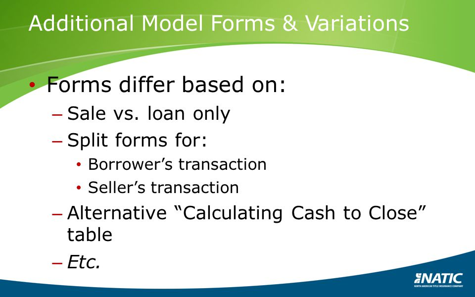 Additional Model Forms & Variations