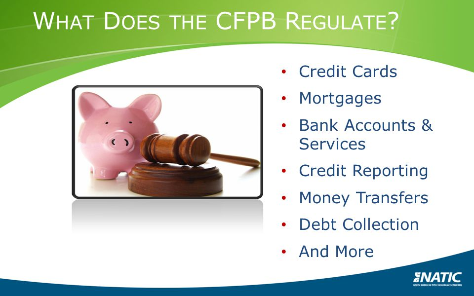 What Does the CFPB Regulate