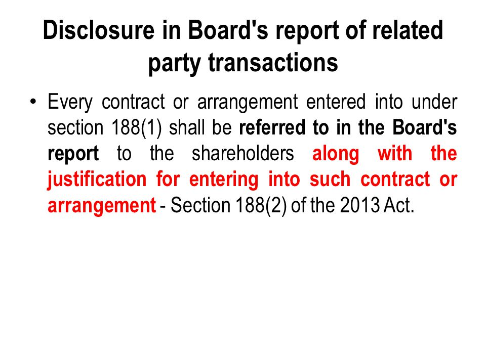 Disclosure in Board s report of related party transactions