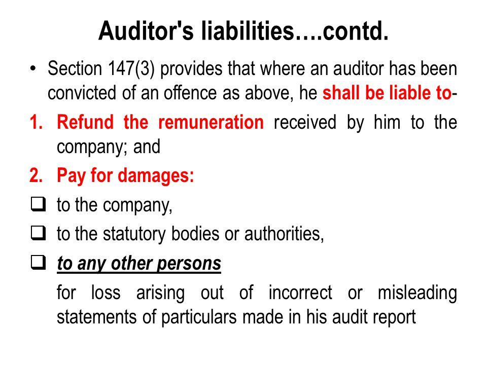 Auditor s liabilities….contd.