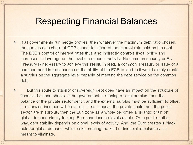 Respecting Financial Balances