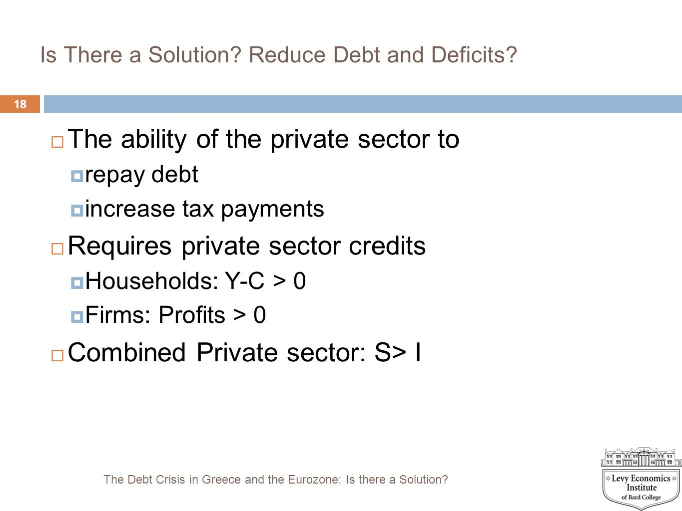 Is There a Solution Reduce Debt and Deficits