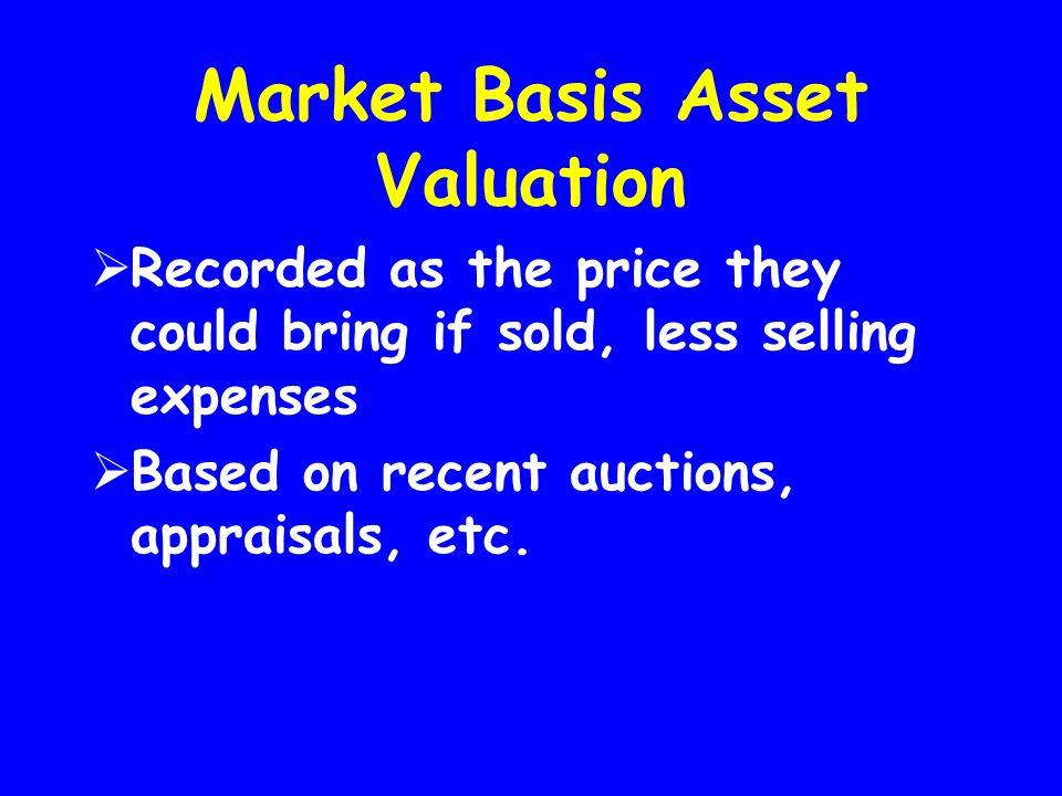 Market Basis Asset Valuation