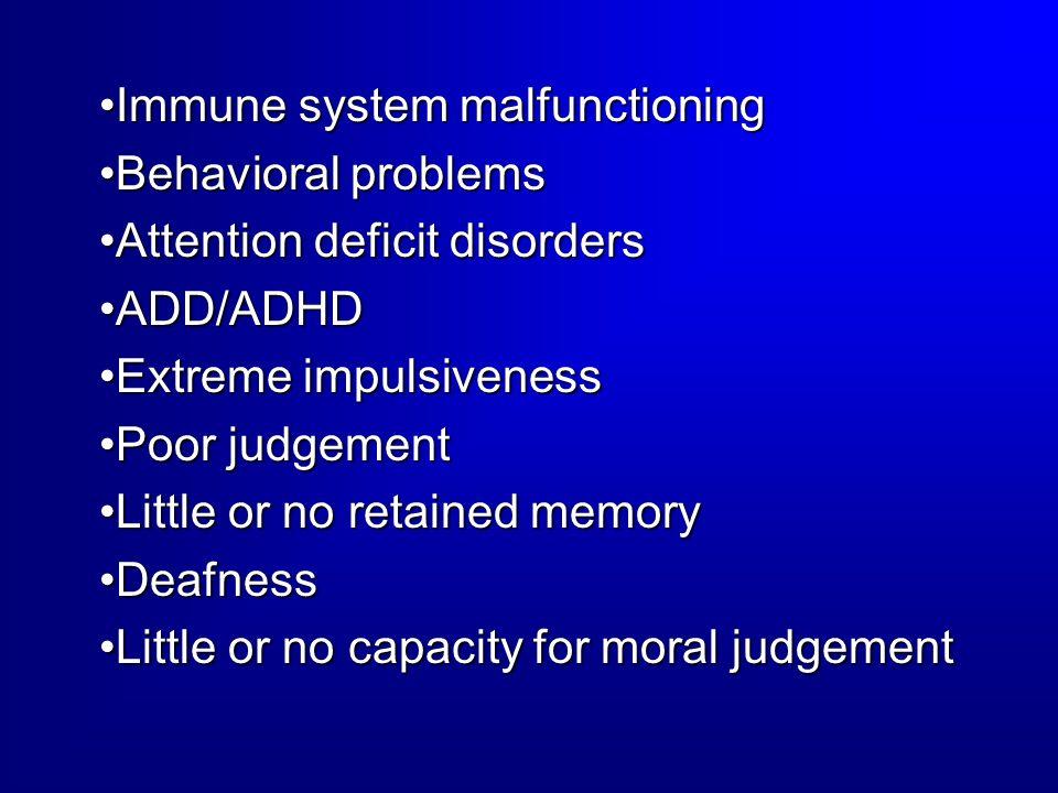 Immune system malfunctioning