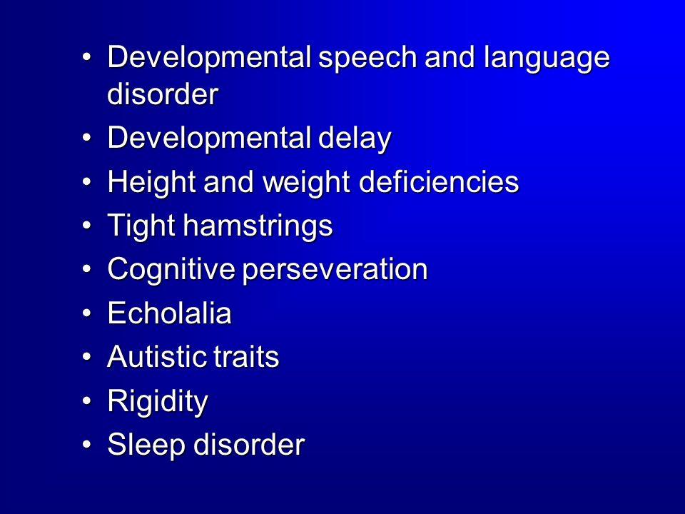 Developmental speech and language disorder