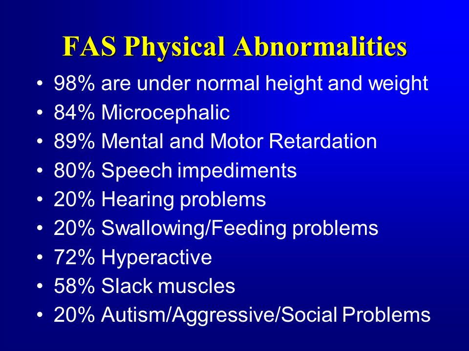 FAS Physical Abnormalities