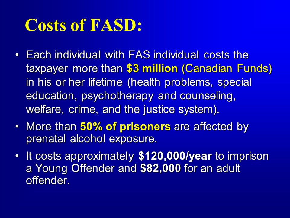 Costs of FASD: