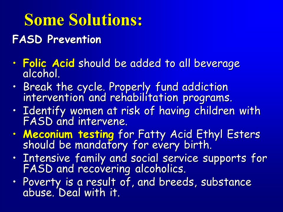 Some Solutions: FASD Prevention