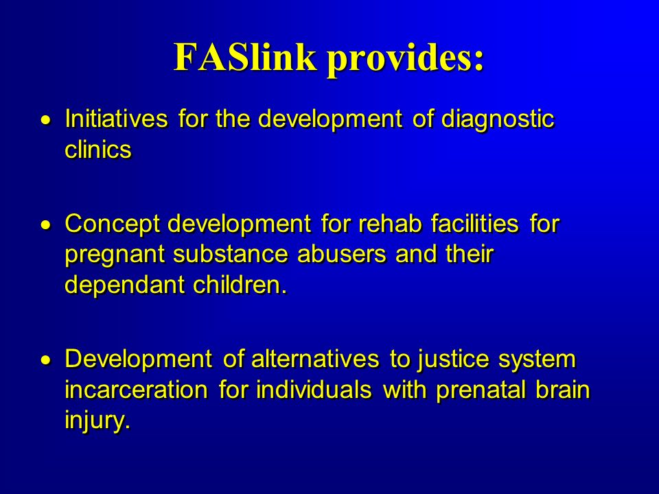 FASlink provides: Initiatives for the development of diagnostic clinics.