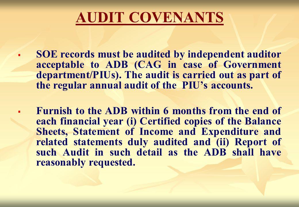 AUDIT COVENANTS