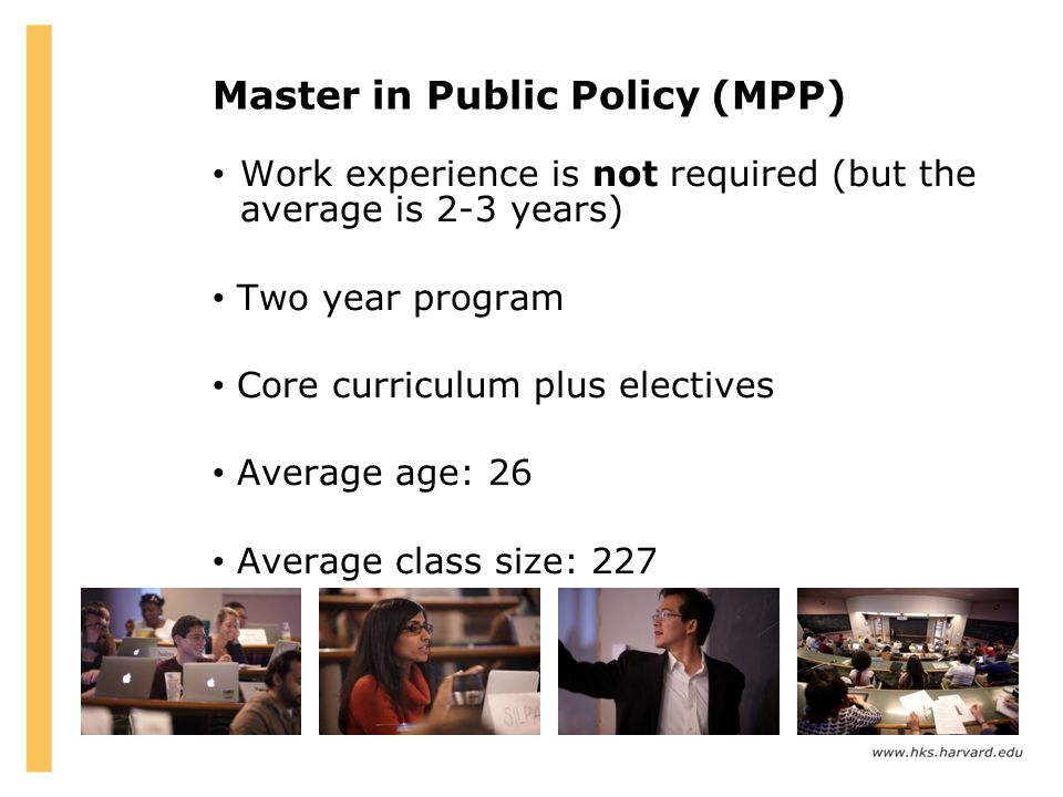 Master in Public Policy (MPP)